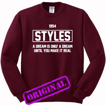 Harry Styles quote for Sweater maroon, Sweatshirt maroon unisex adult