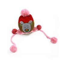 Lovely Infant Baby Winter Warm Knitting Cap Hat Baby Beanie Brown Pink