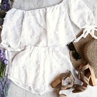 reverse - on that note - two piece set - white