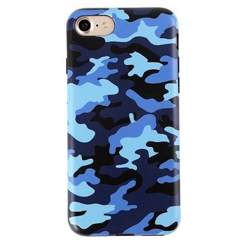 Deep Blue Camo iPhone Case