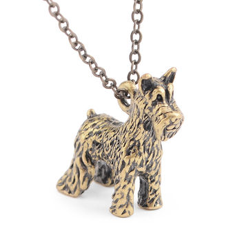 """Keep Your Friend Close To Your Heart"" Schnauzer Necklace"