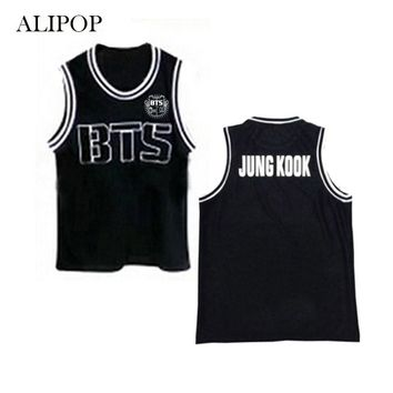 ALIPOP KPOP BTS Bangtan Boys Album Shirts K-POP Baseball Vest Cotton Clothes Tshirt T Shirt Sleeveless Tops T-shirt DX378