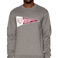 Billionaire Boys Club Pennant Crewneck in Gray
