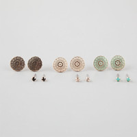 Full Tilt 6 Pairs Stud/Disc Earrings Multi One Size For Women 25581695701