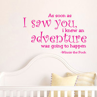 Housewares Winnie the Pooh Kids Nursery Children Wall Vinyl Decal Sticker Quote Art V216