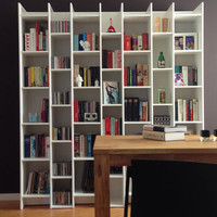 Expand Extension Cabinet And Bookcase In Pine White
