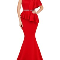 Elegant Mermaid Dress-Red