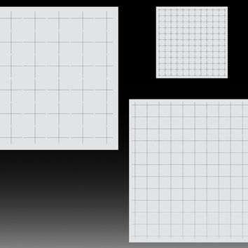 Grid stencil for airbrush - Grid method