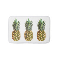 Pineapple print non slip bath mat for bathroom bath mats