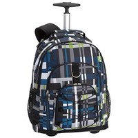 Gear-Up Blue Digi Plaid Rolling Backpack
