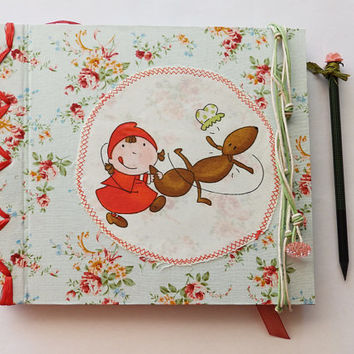 Baby Book Baby Journal diary Maternity pregnancy notebook Baby shower gift,Schwangerschaftstagebuch,gift for her, Little Red Riding Hood,red