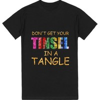 TINSEL IN A MESS   T-Shirt   SKREENED
