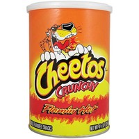 Cheetos Crunchy Flamin' Hot Canister 4.25OZ (120.4g) - American Soda