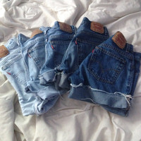 5 for 50 Levi brand highwaisted shorts