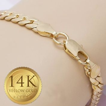 Gold Tone Men Basic Bracelet, by Folks Jewelry