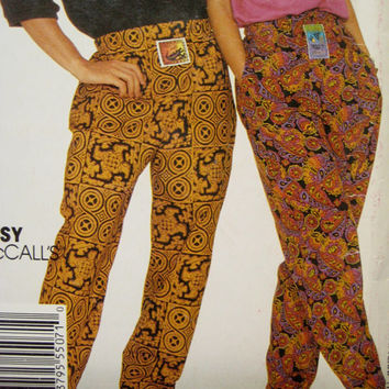 "Stitch n Save McCalls 5507 Sewing Pattern Unisex Rocker Baggy Pants Pattern Hip Hop Pants Top Stretch Knit Hip 32-1/2 - 36"" UNCUT"