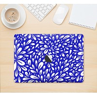"The Royal Blue & White Floral Sprout Skin Kit for the 12"" Apple MacBook"