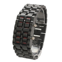 Man Fashion Plastic Lava Wrist Watch LED Digital Unsex Compact Bracelet Bangle Style [9210700547]