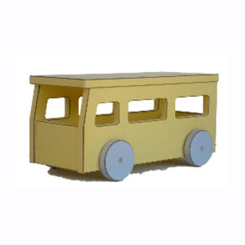 Pastel Toy School Bus