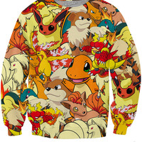 Fire Pokemon Crewneck Sweatshirt