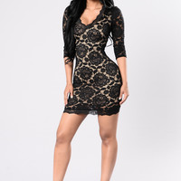 Turn Up The Heat Dress - Black