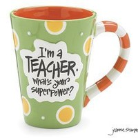 I'm A Teacher, What's Your Super Power? Teacher 12 oz Coffee Mug