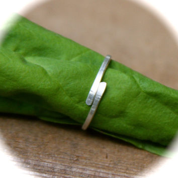 Adjustable Knuckle or Toe Ring, Pick Sterling Silver or Copper Ring, Midi Ring, Knuckle Ring