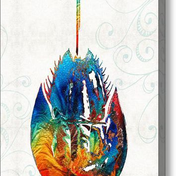 Colorful Horseshoe Crab Art By Sharon Cummings Acrylic Print