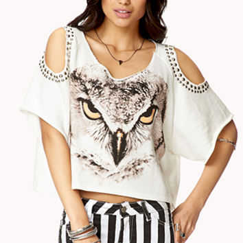 Studded Cutout Owl Top