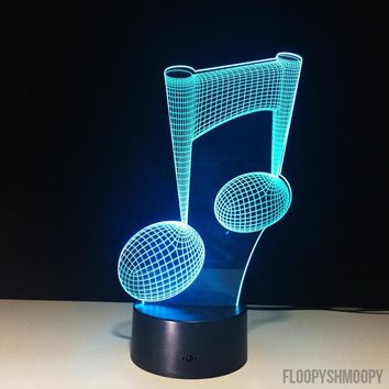 🎵3D Music Note Lamp 🎶