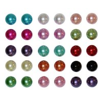 "15 Pairs 3/8"" Colorful Pearl Ball Studs"