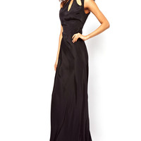 Black Cut-out Sleeveless Maxi Dress