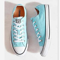 Converse All Star Adult Sneakers Leisure Low-Top Leisure shoes Light blue