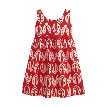 Fair Trade Toddler Ladybugs Dress - Red
