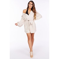 The Right To Chill Sherpa Jacket(Taupe)
