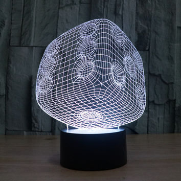 LED Acrylic Gradient 3D Illusion Colorful Multi-color Lights = 5826305985