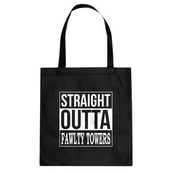 Straight Outta Fawlty Towers Cotton Canvas Tote Bag