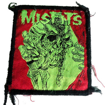 vintage MISFITS PUSHEAD patch 1980s heavy metal thrash punk slayer