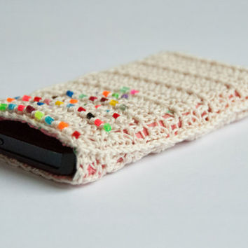 Iphone 5 cozy or case - crocheted