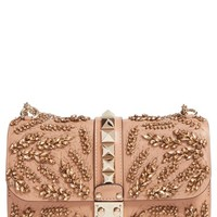 Valentino 'Rockstud Embellished - Medium Lock' Leather Shoulder Bag | Nordstrom