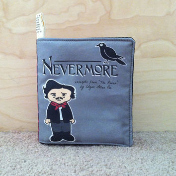 Made to Order PUFFY Nevermore Little Literary Classics Edgar Allan Poe The Raven small cloth quiet book for baby toddler