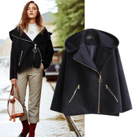 SIMPLE - Fashion Women Hooded Long Sleeve Zipper Outerwear Jacket Top a13007