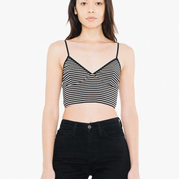 Striped 9x1 Rib Sofia Bralette | American Apparel