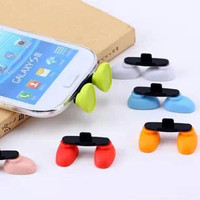 2 in 1 Micro USB Data Port Dust Plug - Colorful Blue Shoes Phone Stand Smart Phone Samsung HTC Nokia Sony Moto MIUI Huawei Lenovo Accessory