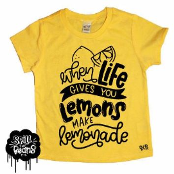 When Life Gives You Lemons Make Lemonade Kids Shirt