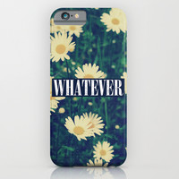 Whatever Grunge Daisies iPhone & iPod Case by Hyakume
