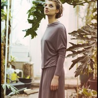 Dusty Lilac Summer Butterfly open back muse dress by LeMuse