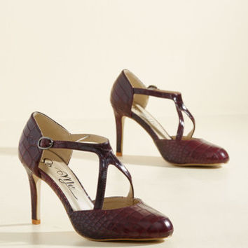 Rock the Dance Floor Heel in Oxblood | Mod Retro Vintage Heels | ModCloth.com