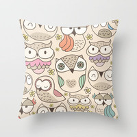 The owling Throw Pillow by Maria Jose Da Luz | Society6