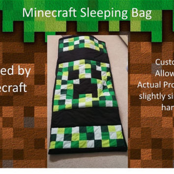 Minecraft Creeper Sleeping Bag